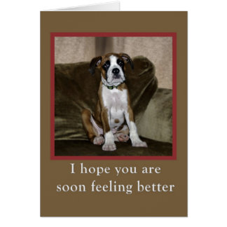 Get Well, boxer puppy Card
