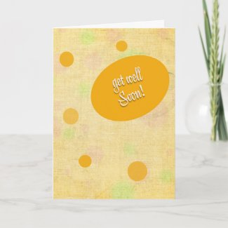 Get Well Bubbles Card