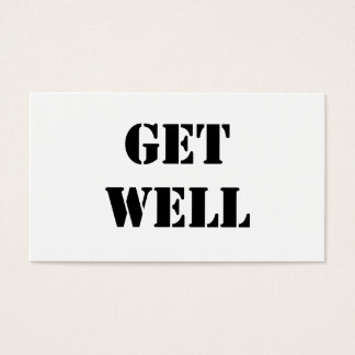 Get Well Business Card