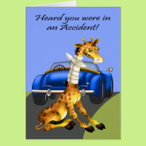 Get Well, Car Accident Card