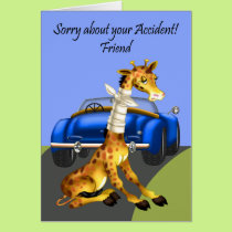 Get Well, Car Accident For Friend Card