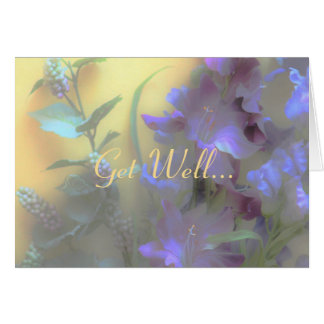 Get Well Card, bright floral Card
