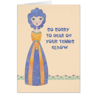 Get Well Card for Tennis Elbow