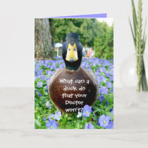 Get well card funny duck