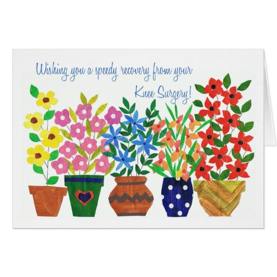 Get Well Card - Knee Surgery - Flower Power | Zazzle