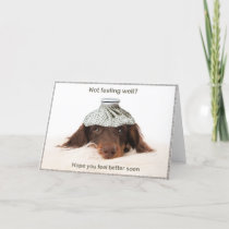 Get well card with a dachshund hound dog