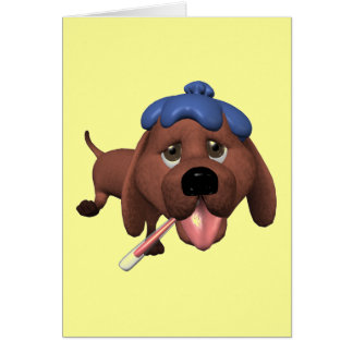 Get Well Card with Puppy Dog