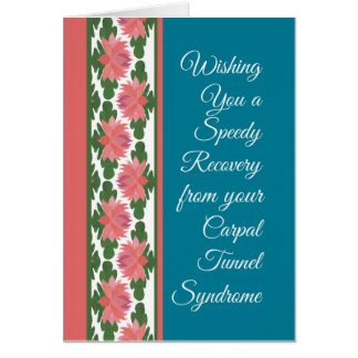 Get Well Carpal Tunnel Syndrome Card, Water Lilies Card