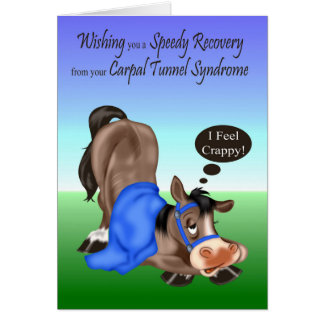 Get Well, Carpal Tunnel Syndrome greeting cards