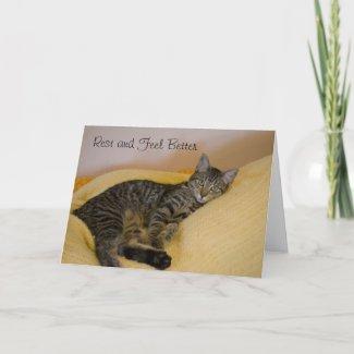 Get Well Cat Card card
