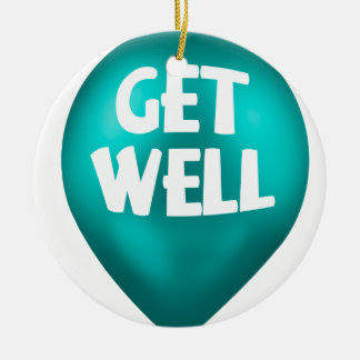 Get Well Ceramic Ornament