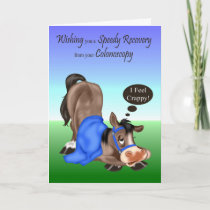 Get Well, Colonoscopy greeting cards