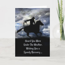 Get Well Country Western Cowboy Back in the Saddle Card