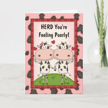 Get Well - Cows Card