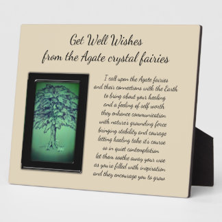 Get Well Crystal Fairy Plaque