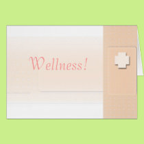 Get Well Custom Bandaid Medical Wellness Card