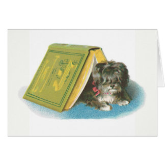 Get Well - Cute Yorkshire Terrier - Yorkie - Book Stationery Note Card