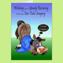 Get Well, Ear Tube Surgery greeting card