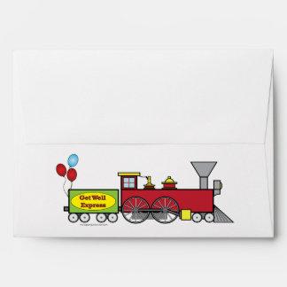 Get Well Express Train Matching Envelope