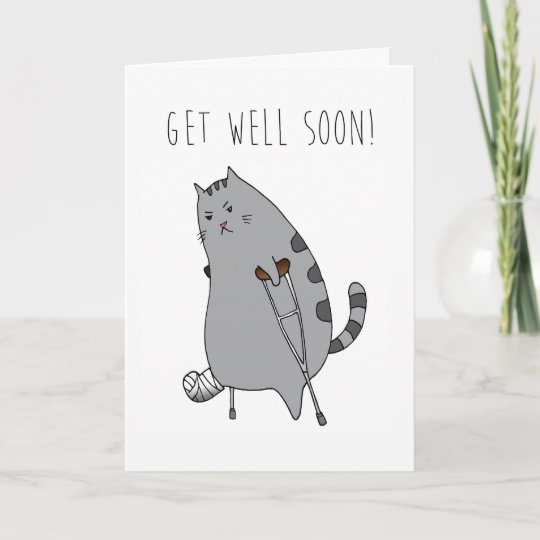 get well feel better card broken bone in a cast card zazzle com