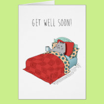 Get Well Feel Better Cold Flu Sick Cute Funny Card