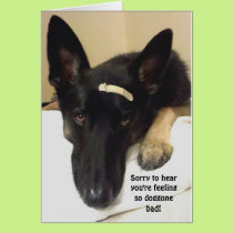 Get Well - Feeling So Doggone Bad Card