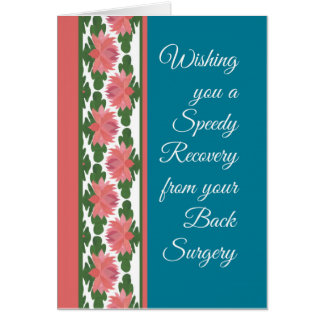 Get Well from Back Surgery Card, Water Lilies Card