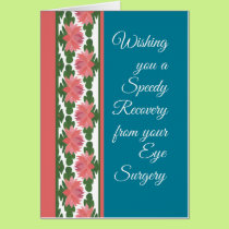 Get Well from Eye Surgery Card, Water Lilies Card
