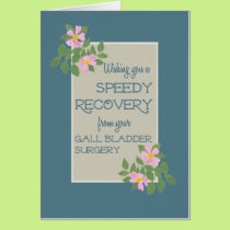 Get Well from Gall Bladder Surgery, Pink Dogroses Card