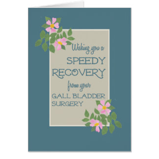 Get Well from Gall Bladder Surgery, Pink Dogroses Greeting Card