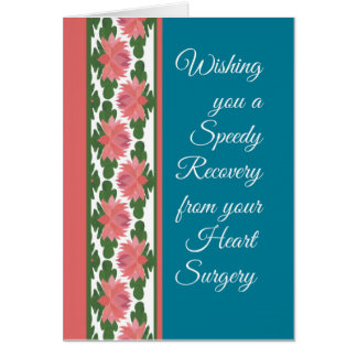 Get Well from Heart Surgery Card, Water Lilies Card