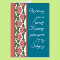 Get Well from Hip Surgery Card, Water Lilies Card