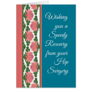 Get Well from Hip Surgery Card, Water Lilies Greeting Card