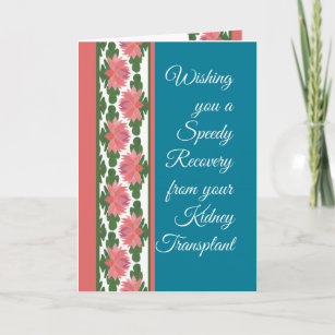 Kidney transplant cards greeting photo cards zazzle get well from kidney transplant card water lilies card m4hsunfo