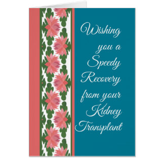Get Well from Kidney Transplant Card, Water Lilies Card