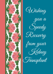 Kidney transplant cards zazzle get well from kidney transplant card water lilies card m4hsunfo