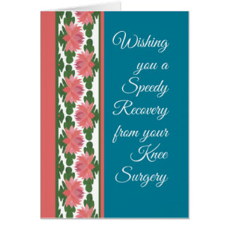 Get Well from Knee Surgery Card, Water Lilies