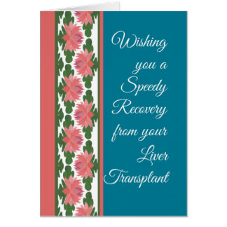 Get Well from Liver Surgery Card, Water Lilies Card