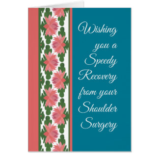 Get Well from Shoulder Surgery Card, Water Lilies Card