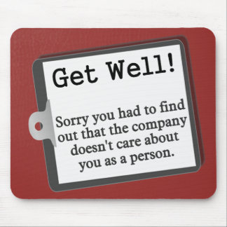 Get well from the group mouse pad