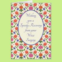 Get Well from Wrist Surgery Card, Rangoli Flowers Card