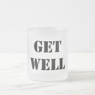 Get Well Frosted Glass Coffee Mug