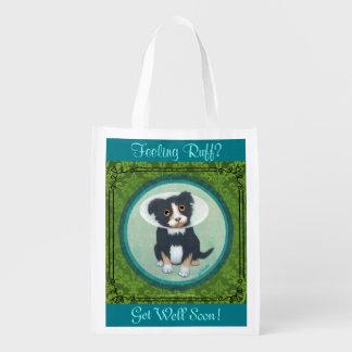 Get Well Gift Bag! Feeling Ruff? Hospital Bag. Grocery Bag