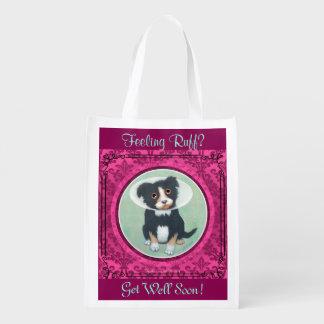 Get Well Gift Bag! Feeling Ruff? Hospital Bag. Reusable Grocery Bag