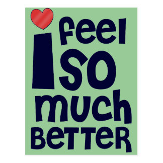 Get Well Gifts, T-shirts | Feel Better Postcard