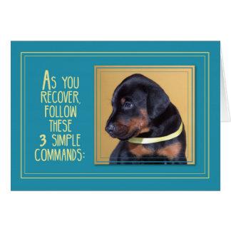 Get Well Healing, Dog Sitting Card