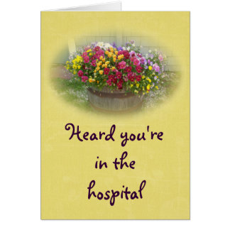Get Well Hospital Basket of Blossoms Card
