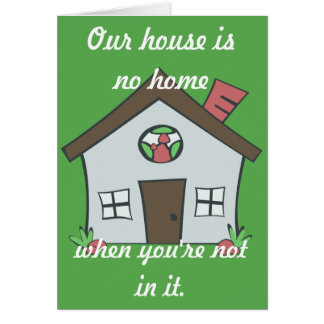 Get Well House Card