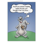 Get Well Humor, Squirrel Nuts Card