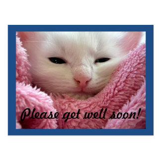 Get Well Kitten Postcard